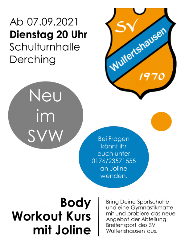 Flyer Body Workout Kurs